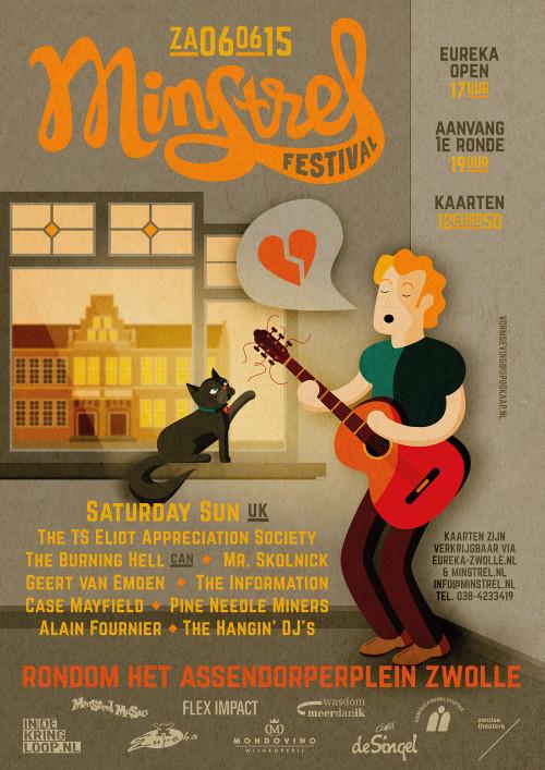 Minstrel festival poster